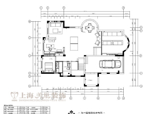 林溪湾480平别墅新古典负一层装修平面布局图,480平,35万,新古典,别墅,