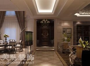 林溪湾480平别墅新古典装修效果图——客餐厅装修效果图,480平,35万,新古典,别墅,客厅,餐黑白,