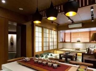 带入经典的日式元素,品味禅风雅境。,126平,17万,日式,三居,客厅,原木色,