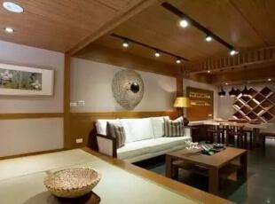 纯粹的日式语汇,形成简洁但更添禅风色彩的住家。,126平,17万,日式,三居,客厅,原木色,