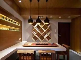 融入日本禅寺与造园手法的特色。,126平,17万,日式,三居,餐厅,原木色,白色,