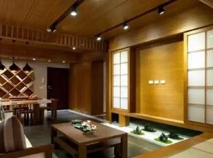,126平,17万,日式,三居,客厅,原木色,