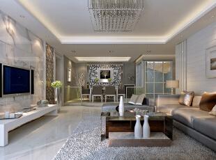 ,89平,8万,简约,两居,客厅,白色,