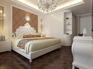 ,129平,13万,宜家,三居,卧室,白色,原木色,