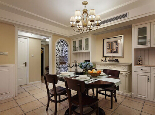 ,115平,10万,美式,公寓,餐厅,黑白,