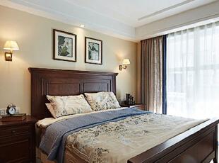 ,115平,10万,美式,公寓,卧室,白色,原木色,
