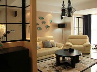 ,130平,11万,现代,三居,客厅,黑白,