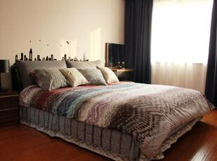 ,130平,11万,现代,三居,卧室,黑白,