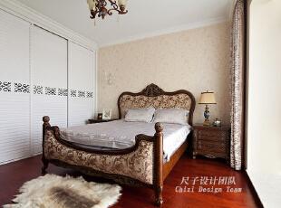 ,150平,70万,欧式,四居,卧室,原木色,白色,