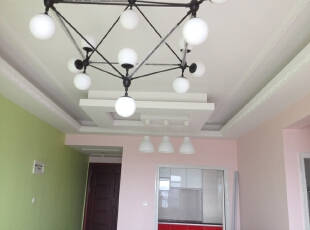 ,120平,5万,三居,现代,客厅,绿色,粉色,