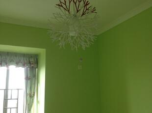 ,120平,5万,三居,现代,卧室,绿色,