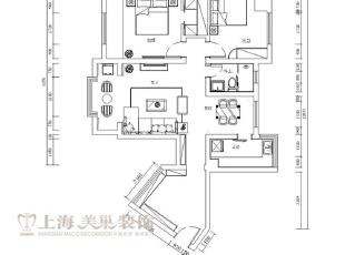 郑州托斯卡纳平层90平两室两厅简欧风格装修户型图,90平,7万,欧式,两居,