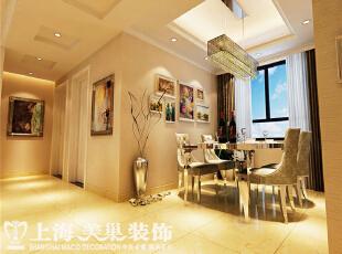 郑州托斯卡纳90平2室2厅简欧风格餐厅效果图,90平,7万,欧式,两居,餐厅,黄色,