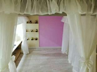 ,90平,9万,现代,Loft,卧室,粉色,白色,黄色,