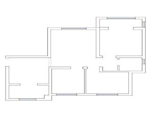 原始结构图,132平,10万,混搭,三居,