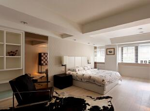 ,277平,30万,现代,大户型,卧室,黑白,
