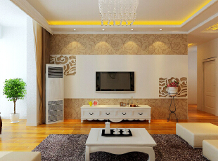 ,120平,6万,三居,现代,客厅,原木色,