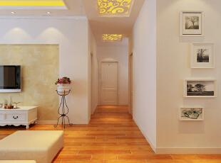 ,120平,6万,三居,现代,客厅,白色,黄色,