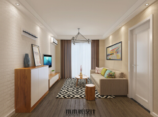 ,65平,8万,现代,两居,客厅,原木色,宜家,小资,