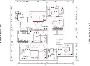 郑州民安北郡复式187平方新中式风格装修——卧室效果图为您展示完毕。,187平,18万,中式,复式,