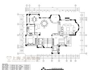 林溪湾480平方别墅装修户型图及平面布局方案-一层,480平,100万,新古典,别墅,