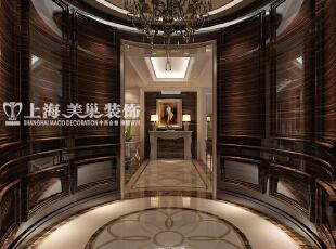 林溪湾480平米别墅新古典风格装修案例效果图-门厅玄关,480平,100万,新古典,别墅,