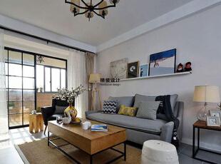 永威五月花城C1户型145平方三室两厅现代简约装修效果图 客厅,145平,10万,现代,三居,客厅,