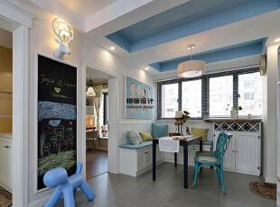 永威五月花城C1户型145平方三室两厅现代简约装修效果图 餐厅,145平,10万,现代,三居,餐厅,