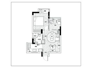 紧凑房型建议更多的从实用性、居家感、空间的利用率下手,同时增添家的趣味性。,68平,15万,现代,两居,