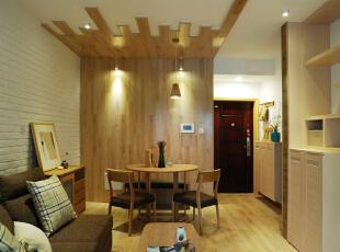 一字型的客餐厅,空间会更加通透,视觉的延伸感也会加强。,68平,15万,现代,两居,客厅,