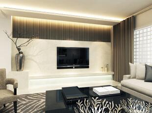 设计理念:由于线条简单、装饰元素少,现代风格家具需要完美的软装配合,才能显示出美感。 设计亮点:大量使用钢化玻璃、不锈钢等新型材料作为辅材,给人带来前卫、不受拘束的感觉。,140平,12万,现代,三居,客厅,