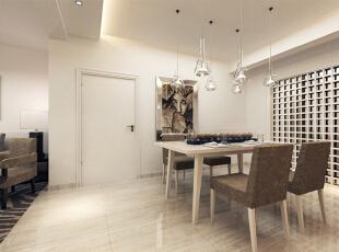 设计理念:现代简约风格饰品是所有家装风格中最不拘一格的一个。一些线条简单,设计独特甚至是极富创意和个性的饰品都可以成为现代简约风格家装中的一员。 设计亮点:餐厅透明的灯饰成组的呈现,很好的吸引了大众的眼球,时尚而前卫。,140平,12万,现代,三居,餐厅,