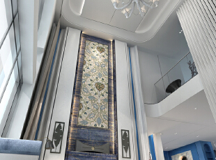 中空客厅简约大气,600平,350万,地中海,别墅,