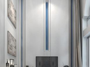 不需要太多的造型变换 简洁的线条更能体现空间感。,600平,350万,地中海,别墅,