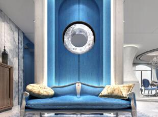 玄关的设计让人进入空间时从视觉上得到了一定的冲击。,600平,350万,地中海,别墅,
