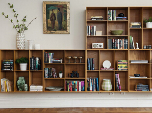 开放式组合书架简单而齐整,美观而大方,无论是藏书还是摆件装饰都有图片