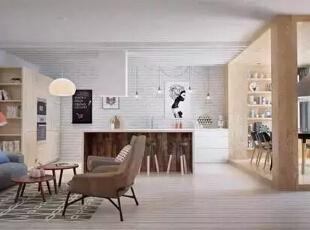 设计重点:沙发设计   编辑点评:大面积沙发扩充空间感,贴墙而放,节省空间。而几何体图案的地毯活跃居室氛围的同时又能划分出客厅位置。,170平,21万,宜家,四居,