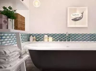 """设计重点:收纳设计   编辑点评:设计师延续强收纳空间主题,在浴室大胆使用实用与美观兼备的悬吊式格子收纳柜,用""""L""""型隔板分割上下收纳,从细节上讲空间收纳尽情展现。,170平,21万,宜家,四居,"""