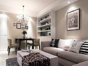,90平,9万,现代,两居,客厅,