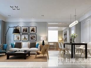 中豪汇景湾120平三室两厅装修样板间——客餐厅装修效果图,120平,8万,欧式,三居,餐厅,客厅,