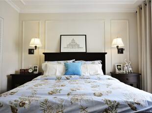 ,124平,10万,美式,三居,卧室,白色,