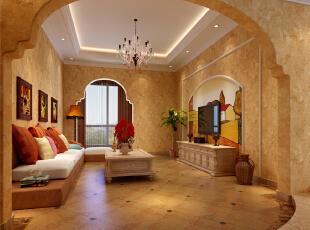 ,64平,10万,现代,一居,客厅,