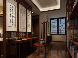 客房套房里的书房,1000平,500万,中式,公装,