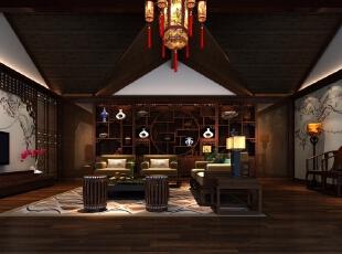 主人房客厅,1000平,500万,中式,公装,