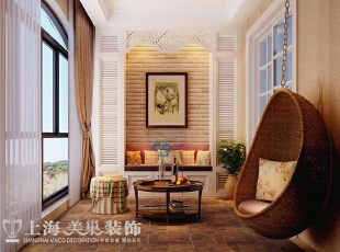 瀚海泰苑150平三室两厅简欧风格装修案例效果图——阳台休闲区效果图,通过完美的典线,精益求精的细节处理,线条有的柔美雅致,有的遒劲而富于节奏感,整个立体形式都与有条不紊的、有节奏的曲线融为一体,带给家人不尽的舒服触感。,150平,20万,欧式,三居,瀚海泰苑装修,郑州装修装饰,装修优惠,装修团装,美巢装饰,