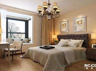 暖暖的黄色和咔色卧室给人时尚而温馨的感觉。,76平,5万,田园,两居,