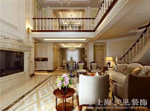 郑州蓝堡湾230平复式欧式风格装修效果图-客餐厅,230平,40万,欧式,复式,