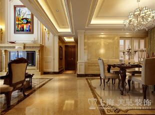 蓝堡湾4室2厅欧式风格装修效果图-门厅玄关,230平,40万,欧式,复式,
