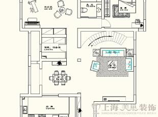 蓝堡湾230平方欧式风格装修户型图及平面布局方案-一楼,230平,40万,欧式,复式,