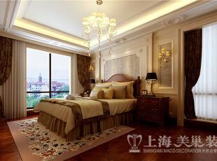 蓝堡湾230平方复式欧式装修效果图-卧室,230平,40万,欧式,复式,
